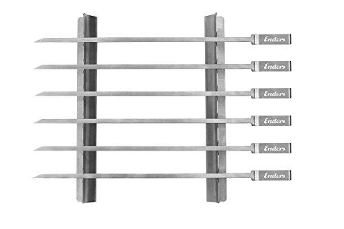 Enders Grillzubehör, Schaschlikspiess-Set, 6-teilig, edelstahl, 42x15x3 cm, 8802