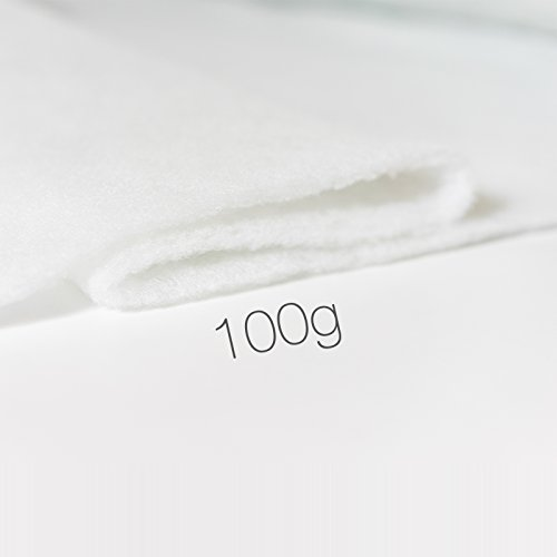 Kissenoutlet24 Polsterwatte Vlieswatte Volumenvlies Vliesstoff 160cm 1,6m Breit verschiedene Stärken Meterware