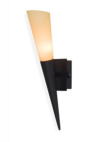 Led Wandfackel Liverpool ,Wandleuchte ,Wandlampe ,Leuchte ,Lampe ,Fackel ,rostbraun , inkl. 1 x G9 Led 3 Watt !