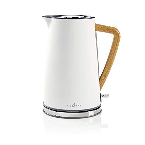 Nedis KAWK510EWT Wasserkocher | 1,7 l | Soft-Touch | Weiß