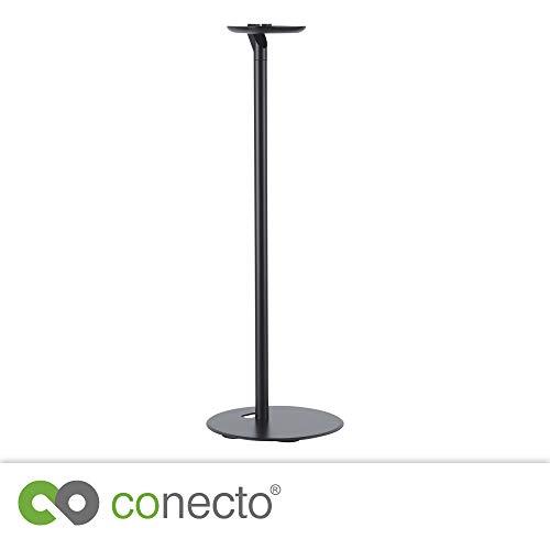 conecto CC50595 Premium Standfuß für SONOS ONETM + SONOS PLAY:1TM mit Kabelmanagement, Höhe: 71,6cm, Traglast: max. 3,0kg, schwarz (1 Stück)
