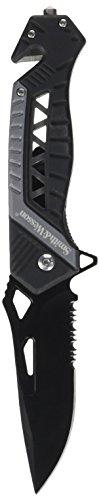 Smith & Wesson Erwachsene Taschenmesser Rettungsmesser-Klingenlänge: 8,9 cm-Linerlock, Mehrfarbig, 21.5 cm