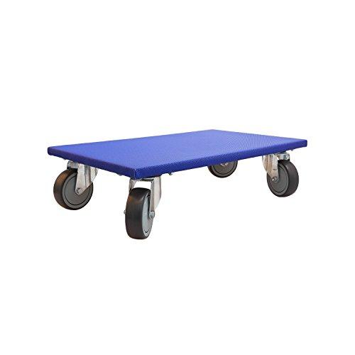 Richel 2 Profi Möbelroller für Möbel, Kartons, Plattengröße mit 4fach Verschraubung der 360 Grad Lenkrollen, 2 Stück, 600x350x115 cm, blau, 81167150002
