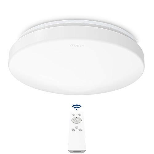 Anten 24W LED Deckenleuchte Dimmbar | Lichtfarbe und Helligkeit einstellbar| Moderne Deckenbeleuchtung für Esszimmer Badezimmer geeignet
