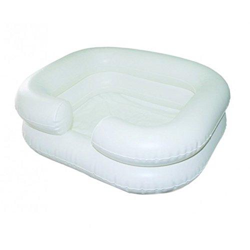 Aufblasbares Haarwaschbecken   Abwasserschlauch   Weiß   Mobiclinic