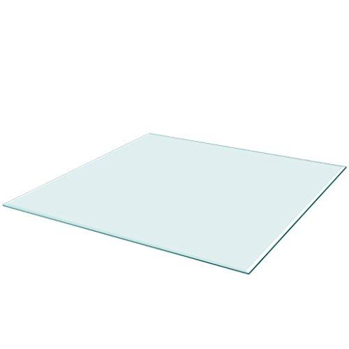 vidaXL Tischplatte aus gehärtetem Glas quadratisch 800x800 mm Tisch Glasplatte