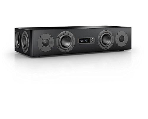 Nubert nuPro AS-250 aktive Soundbar/TV-Lautsprecher 2.5-Wege (4x 12cm Tieftöner,2x 2.5cm Hochtöner,2x 80/100 Watt,Fernbedienung) Stück, Lack Schwarz