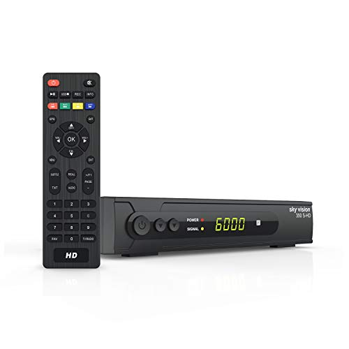 sky vision SAT Receiver 350 S-HD - Digitaler Satelliten Receiver DVBS 2, HD Satellitenreceiver für SAT-HDTV