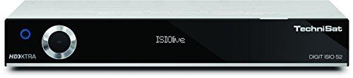 TechniSat DIGIT ISIO S2 / HD Sat-Receiver mit PVR-Aufnahmefunktion via USB oder im Netzwerk, Timeshift, UPnP-Livestreaming, silber