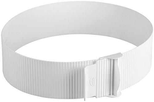 Dr. Oetker Tortenring  Ø15-30cm, Küchenhelfer aus Kunststoff, stufenlos verstellbar, perfekt geeignet für Schichttorten, einfaches und bequemes Entfernen, (Farbe: weiß), Menge: 1