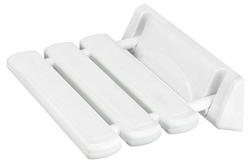 Cornat Duschklappsitz SAFELINE weiß | Duschsitz | Duschstuhl | Badsicherheit | Sicherheitssitz | Duschhilfe | SLDKL00