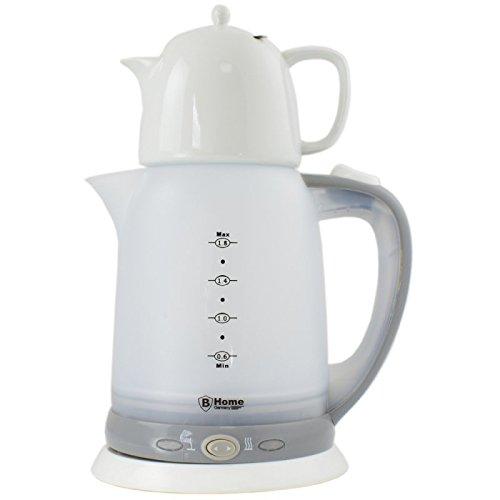 1,8L Elektro Wasserkocher Teebereiter Teekocher Teezubereiter Samowar Keramikteekanne mit Siebeinsatz