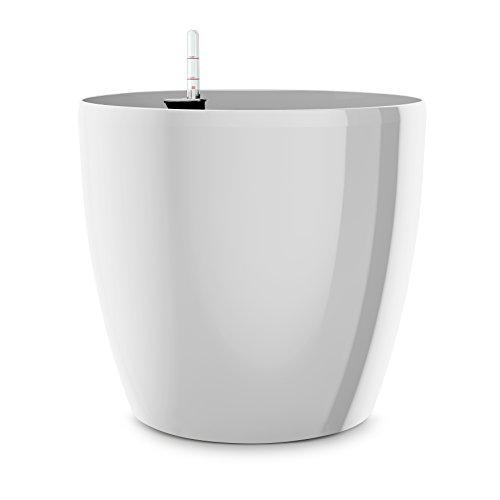 Emsa Blumenkübel für den Innenbereich, Selbstbewässerungssystem, Ø 25 cm, Weiß, Casa Brilliant, 517563