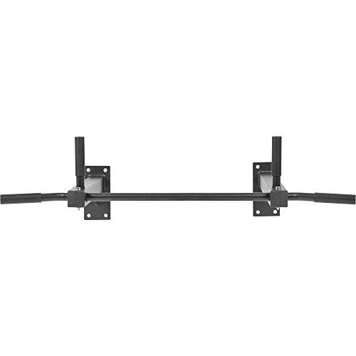 GORILLA SPORTS Klimmzugstange zur Deckenmontage Schwarz mit max. Belastbarkeit bis 350 kg inkl. Schwerlastdübel