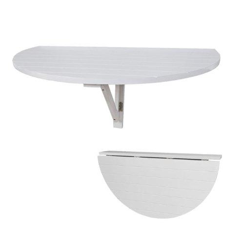 SoBuy Wandklapptisch, Küchentisch, Esstisch, Kindermöbel, FWT10-W (Weiß aus Holz)