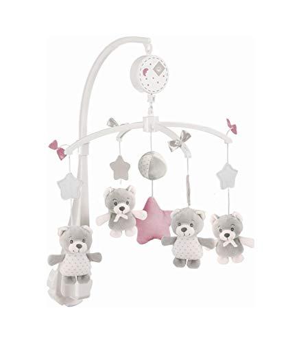 BIECO Musik-mobile Cosmo, Spieluhr-mobile mit süßen Bären zum Staunen & Lauschen, beruhigen und als Einschlafhilfe, Halterung fürs Baby-bett, ab 0m, Höhe: 55 cm, ø 33 cm, 2013004