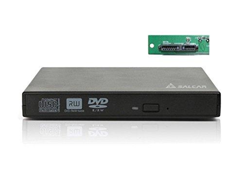 'Salcar–Externes Gehäuse USB2.0Für CD/DVD Brenner Laufwerk/BLU − Ray 12,7mm Spaltabdichtung der Schnittstelle SATA (schwarz)