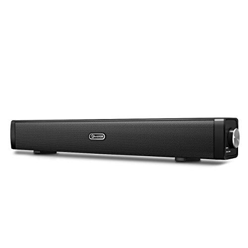PC Lautsprecher, EIVOTOR USB Lautsprecher Computer Soundbar USB Player Box Soundsystem für Fernseher Wired Speaker USB Powered Sound Box für PC Notebook Laptop Smartphone und TV mit 3.5mm AUX Port
