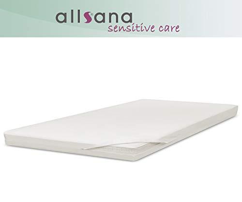 allsana Allergiker-Matratzen-Bezug 90x200x8cm für Topper Anti Milben Encasing, Topperbezug für Allergiker bei Hausstaubmilben Allergie