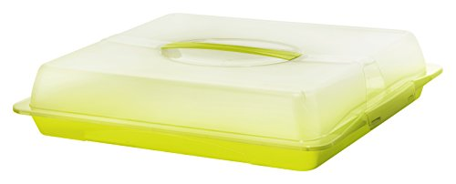 Rotho 1748305070 Partybutler-/Container John XL mit Deckel und Tragegriff, BPA- und schadstofffrei, transparent / grün, Plastik, circa 47.5 x 39 x 9.8 cm