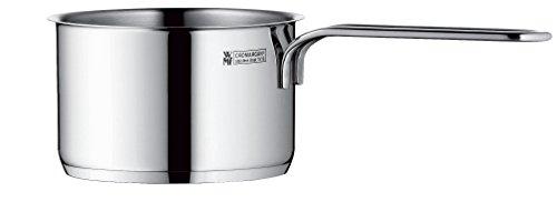 WMF Mini Stielkasserolle, ohne Deckel, Ø 10 cm, Cromargan Edelstahl poliert, Schüttrand, Induktion, spülmaschinengeeignet, stapelbar, 0,5l