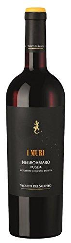 6 x 0,75l - 2017er - Vigneti del Salento - I Muri - Negroamaro - Puglia I.G.P. - Apulien - Italien - Rotwein trocken