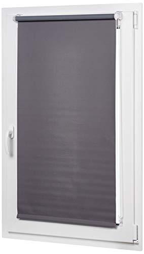 AmazonBasics - Verdunkelungsrollo mit farbiger Beschichtung, 100 x 150 cm, Dunkelgrau
