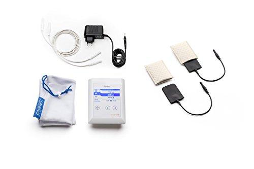 Saalio AX Set Iontophoresegerät gegen Achselschweiß mit Pulsstrom Gleichstrom Graphit-/Silikonelektroden