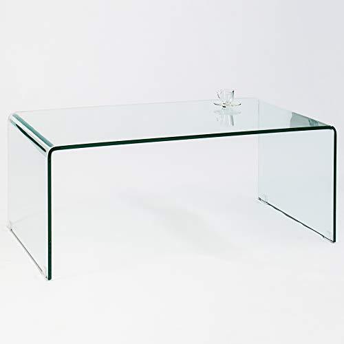 Invicta Interior Extravaganter Glas Couchtisch Ghost 110cm transparent