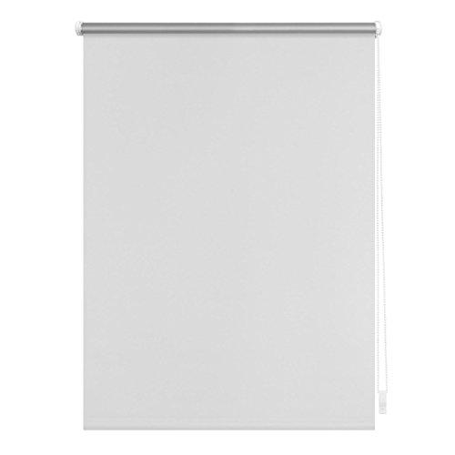 Lichtblick Thermo-Rollo, 90 cm x 150 cm (B x L) in Weiß, ohne Bohren, Sonnen-, Sicht-, Hitze- & Kälte-Schutz, reflektierende Thermofunktion, Klemmfix für Fenster & Türen