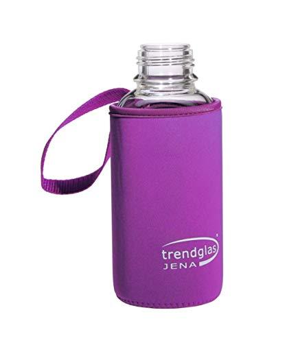 Trendglas Jena Flaschenhülle/Neopren-Schutzhülle/Thermohülle, violett - für Glasflasche, 500 ml