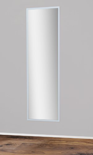 Spiegel 175x55cm mit Rückwand in Weiß
