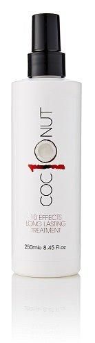 Kokos-Hitzeschutzspray - Behandlung für trockenes Haar - Anti-Frizz, UV-Schutz, verleiht Volumen - 10-in-1 Styling-Produkt - 250 ml