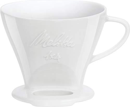 Melitta Porzellan Kaffeefilter weiß 1x4