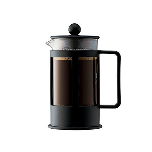 Bodum KENYA Kaffeebereiter (French Press System, Spülmaschinengeeignet) schwarz
