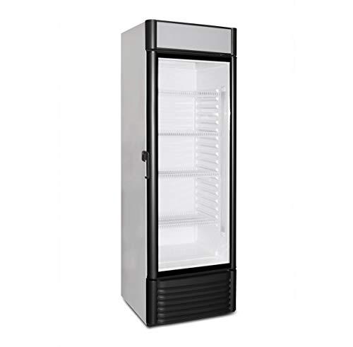 Flaschenkühlschrank mit Glastür 350 Liter Getränkekühlschrank Barkühlschrank Gewerbe Gastronomie