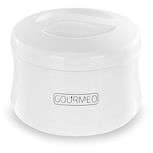 GOURMEO Joghurt-Bereiter für Natur-Joghurt, Soja-Joghurt, 1 Liter, ohne Strom | 2 Jahre Zufriedenheitsgarantie | Joghurt-Gefäß, Yoghurt-Maker