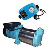 INOX(Edelstahl) Profi Gartenpumpe Kreiselpumpe 2200 Watt 230V / 50Hz Fördermenge: 170 l/min 10200 l/h, - 5 Laufräder 5,8 bar - robuste und rostfreie Edelstahlwelle + integrierter thermischer Motorschutzschalter.