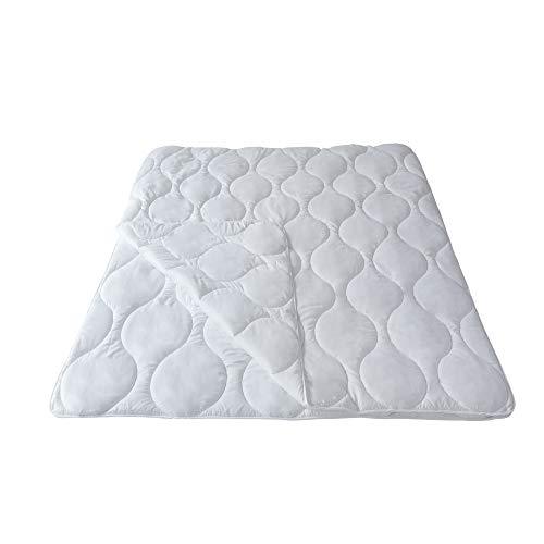 Mack 4 Jahreszeiten Bettdecke 155x200cm Microfaser Bettdecke 4 Jahreszeiten 155x200 4 Jahreszeitenbett Steppbett Steppdecke aus Microfaser Allergiker geeignet mit Drückknöpfen