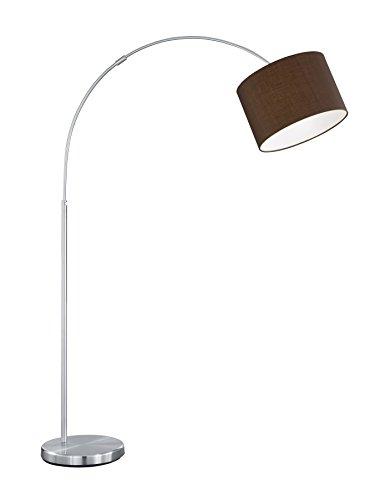 lightling modern Deckenleuchte in nickel matt, Stoffschirm anthrazit, 5 x E27 max. 60W, ø 65 cm, Höhe: 17 cm