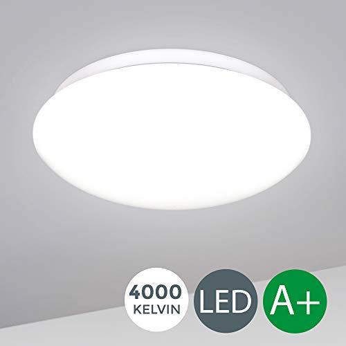 LED Deckenlampe inkl. 12W 1200lm LED Platine, Deckenleuchte für Wohnzimmer, 4000K neutralweiss, 230V, Ø 280mm