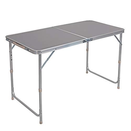 WOLTU Campingtisch Klapptisch Gartentisch Arbeitstisch Balkontisch höhenverstellbar Aluminium MDF