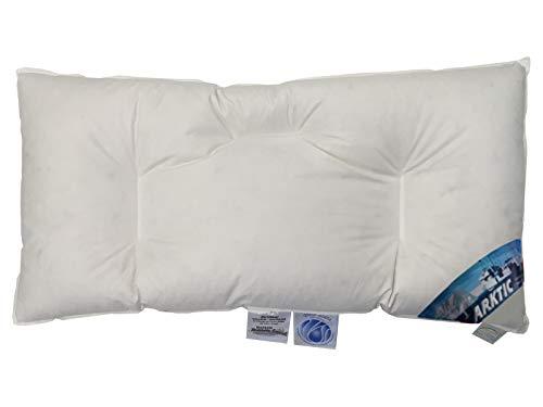Bauchschläferkissen Arktic 100% Daune arktischer Daunenflaum flach weich entlastend (40 x 80 cm) vom Betten Fachgeschäft