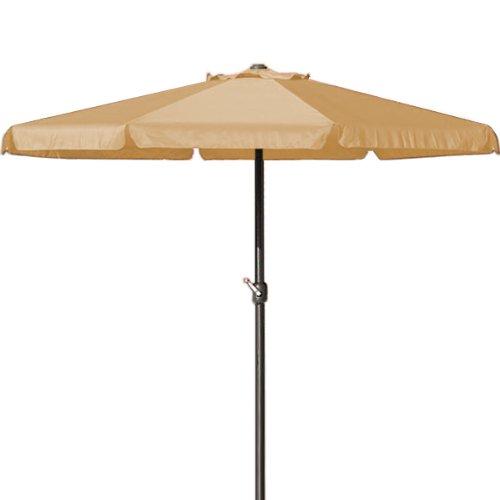 Deuba Sonnenschirm 350cm Aluminium beige - Kurbelschirm Ampelschirm Marktschirm Gartenschirm Terrassenschirm