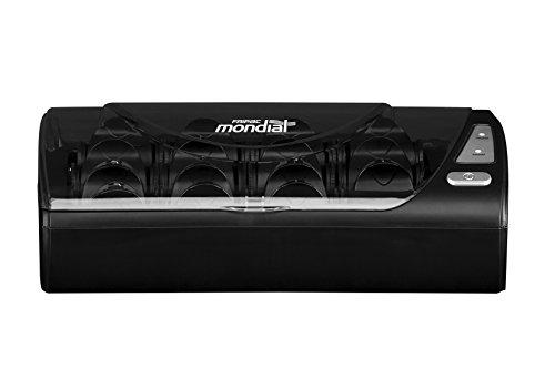 Fripac Mondial Lockenwickler Hotrolls, Heizwickler zum Stylen von Locken und Volumen, 15 Wickler in einer Box mit digitaler Temperaturanzeige, schwarz