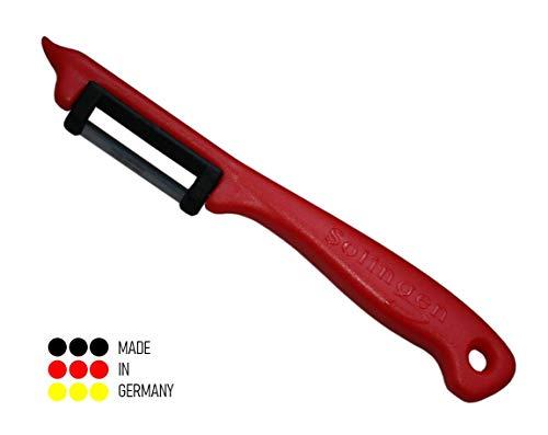 Schwertkrone Sparschäler Solingen Germany | Kartoffelschäler | Pendelschäler | Gemüseschäler | Obstschäler - rot