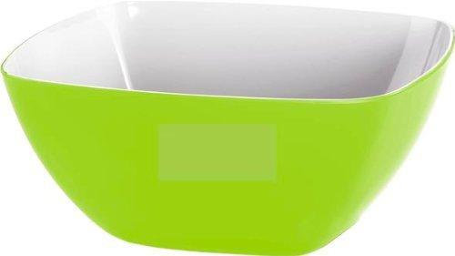 Emsa 506681 Eckiges Schälchen für Salat, Kunststoff, 0.6 Liter