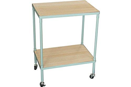 Søstrene Grene Tisch mit Rollen / Rollwagen / Transportwagen 'Rolling Table' (grau-grün)