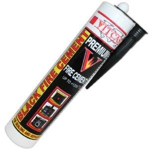 Feuerzement, hitzebeständig bis 1250°C, für Kamin, Ofen, Boiler usw, 310ml, Farbe: Schwarz