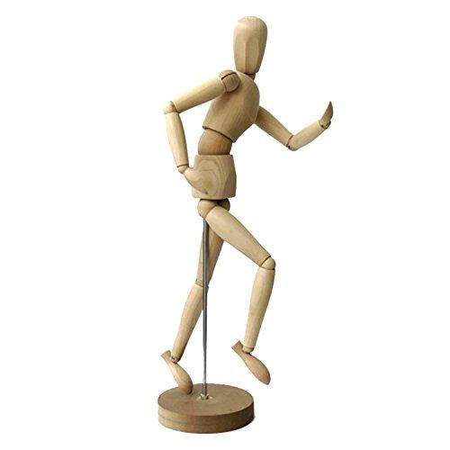 Easy Kunst Gliederpuppe Zeichenpuppe Zeichenfigur Figur Puppe Gelenkpuppe aus Holz 30CM